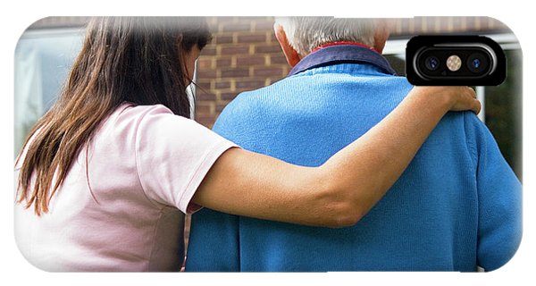 Assisted Living iPhone Case - Geriatric Care by Mary Dunkin/science Photo Library