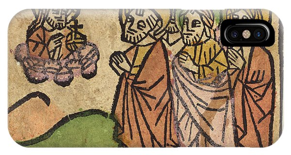 Lavender iPhone Case - German 15th Century, Christ Appearing To The Apostles by Litz Collection