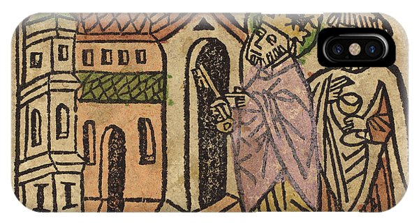Lavender iPhone Case - German 15th Century, Saint Peter As Founder Of The Church by Quint Lox