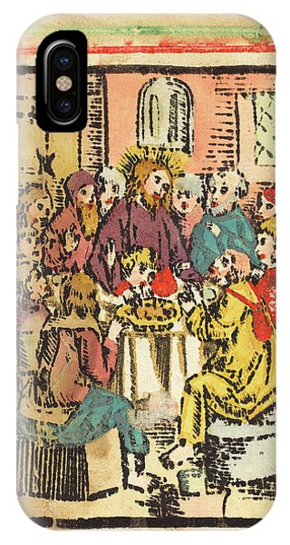 Lavender iPhone Case - German 15th Century, The Last Supper, C. 1480-1500 by Quint Lox