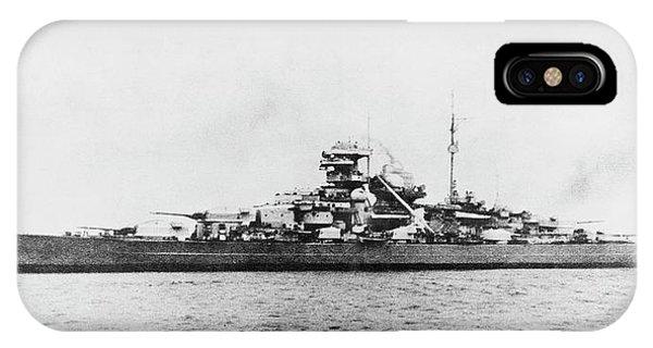 German Battleship Bismarck Phone Case by Us Navy/science Photo Library
