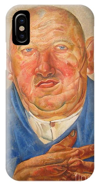 Russian Impressionism iPhone Case - German Butcher  by Celestial Images