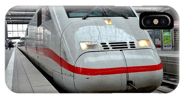 German Ice Intercity Bullet Train Munich Germany IPhone Case