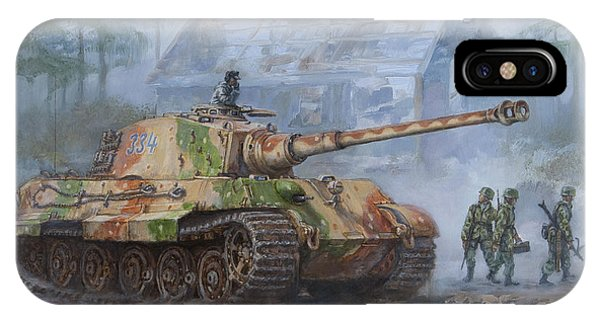 German King Tiger Tank In The Battle Of The Bulge IPhone Case