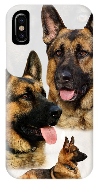 German Shepherd Collage IPhone Case