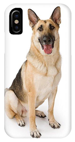 German Shepherd Dog Isolated On White IPhone Case