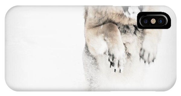 German Shepherd In The Snow IPhone Case