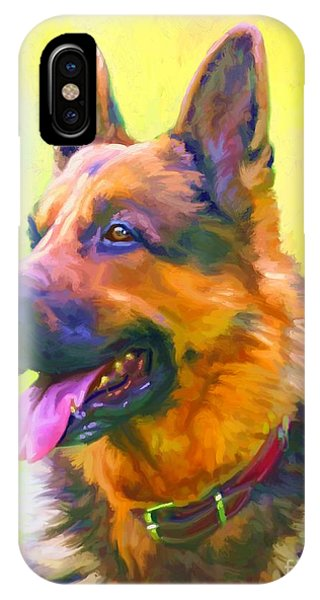 German Shepherd Portrait Phone Case by Iain McDonald
