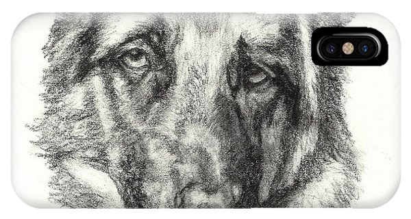German Shepherd Sketch No.1 IPhone Case