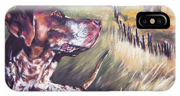 Pheasant iPhone Case - German Shorthaired Pointer And Pheasants by Lee Ann Shepard