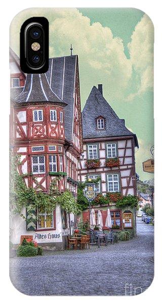 German Village Along Rhine River IPhone Case