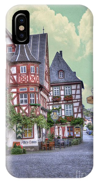 German Village Along Rhine River IPhone Case