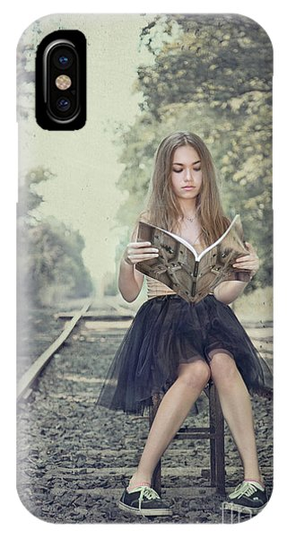 Train Tracks iPhone Case - Get On The Right Track by Evelina Kremsdorf