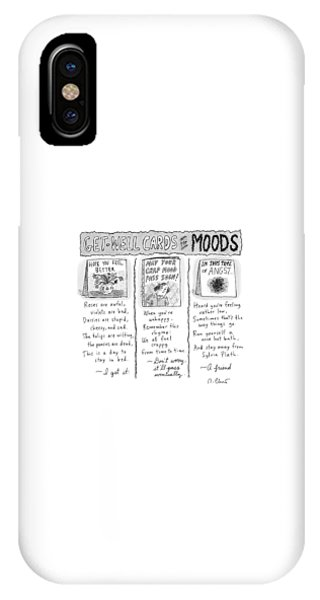 Poetry iPhone Case - Get Well Cards For Moods -- May Your Crap Mood by Roz Chast