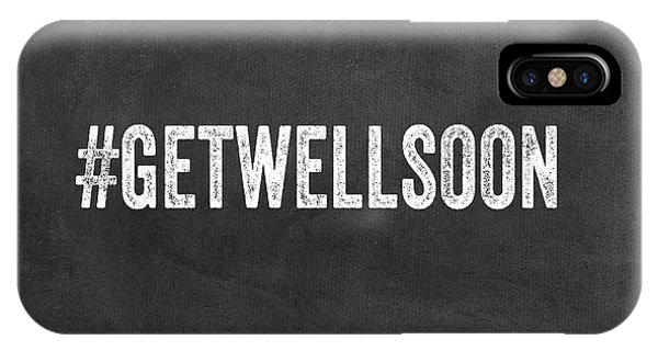 Office iPhone Case - Get Well Soon - Greeting Card by Linda Woods