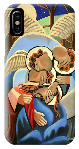 Angels iPhone Case - Gethsemane The Hour Is Near by Anthony Falbo