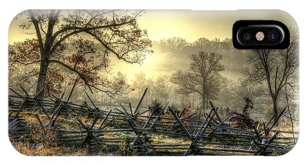 Gettysburg At Rest - Sunrise Over Northern Portion Of Little Round Top IPhone Case