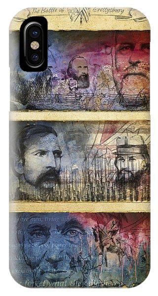 IPhone Case featuring the digital art Gettysburg Tribute by Joe Winkler