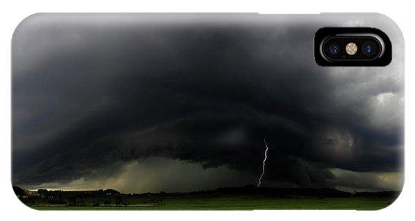 Storm iPhone Case - Gewitterwalze by Nicolas Schumacher