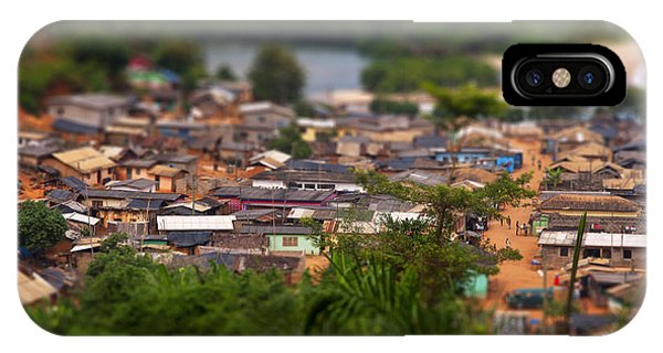 Poor iPhone Case - Ghanaian Village by Samuel Whitton
