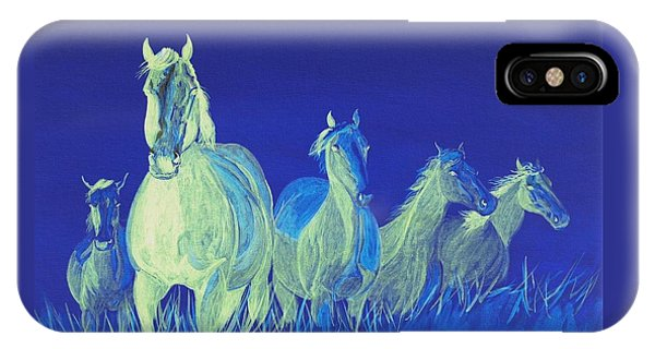 iPhone Case - Ghost Horses by Cynthia Sampson