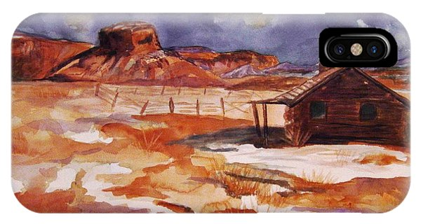 Ghost Ranch Nm Winter  IPhone Case