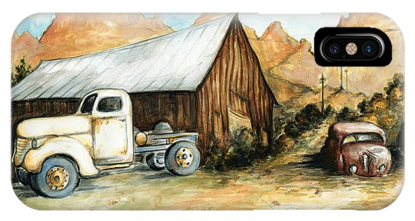 Ghost Town Nevada - Western Art Painting IPhone Case