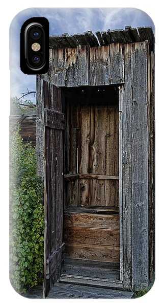 Toilet iPhone Case - Ghost Town Outhouse - Montana by Daniel Hagerman