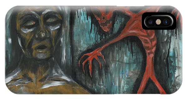 Ghouls At The Cemetery Phone Case by Marisol McKee