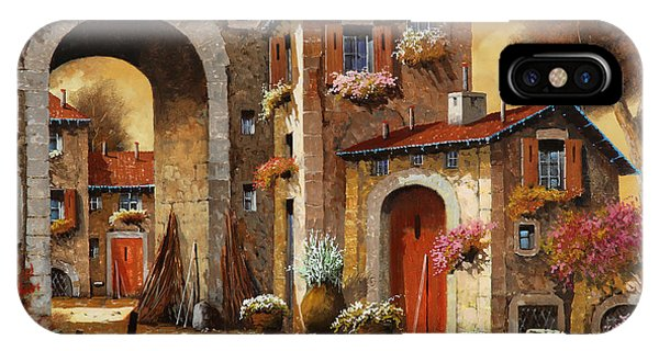 Arched iPhone Case - Giallo by Guido Borelli