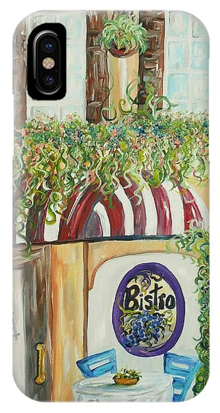 Table For Two iPhone Case - Gianni's Bistro by Eloise Schneider Mote