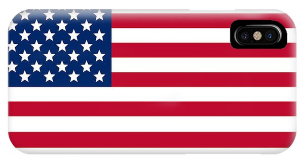 American iPhone Case - Giant American Flag by Ron Hedges