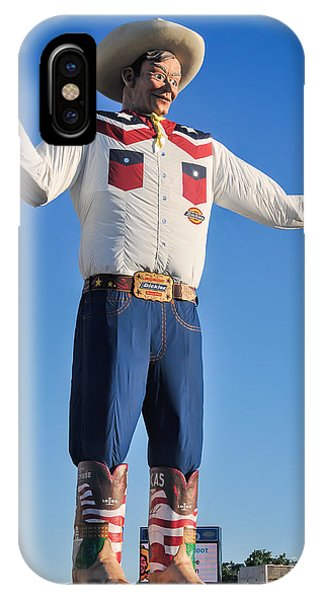 Giant Cowboy Big Tex State Fair Of Texas IPhone Case