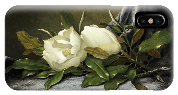 Fowl iPhone Case - Giant Magnolias by Martin Johnson Heade