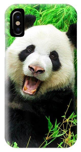 Giant Panda Laughing IPhone Case