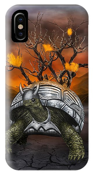 Giant Turtle Warrior In The Old Metal Armor... IPhone Case