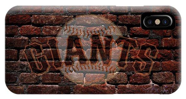 Giants Baseball Graffiti On Brick  IPhone Case