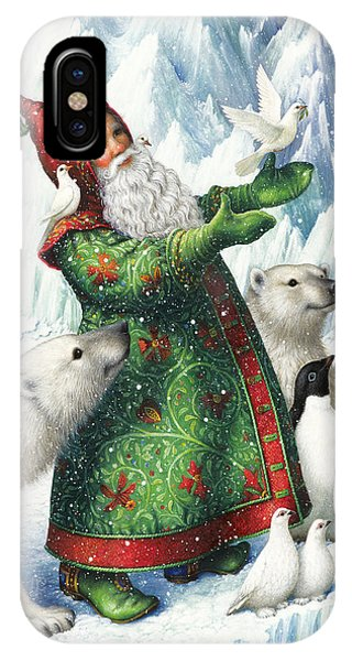 Santa Claus iPhone Case - Gift Of Peace by Lynn Bywaters