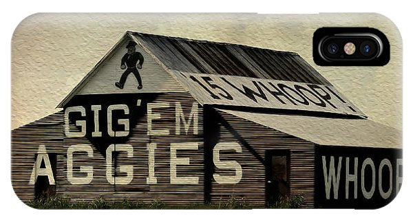 Aggie iPhone Case - Gig Em Aggies by Stephen Stookey