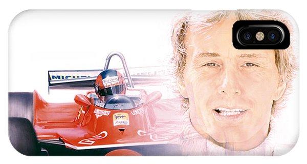 Gilles Villeneuve  Ferrari T5  1980 Phone Case by Alberto Ponno