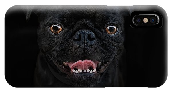 Pug iPhone Case - Gimme A Smile by Joachim G Pinkawa