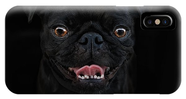 Pug iPhone X Case - Gimme A Smile by Joachim G Pinkawa
