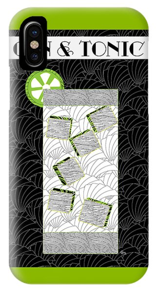 Gin And Tonic Cocktail Art Deco Swing   IPhone Case
