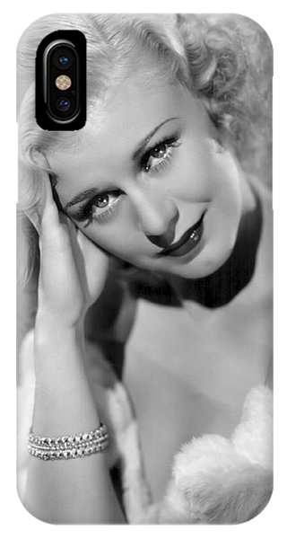 Leading Actress iPhone Case - Ginger Rogers by Daniel Hagerman