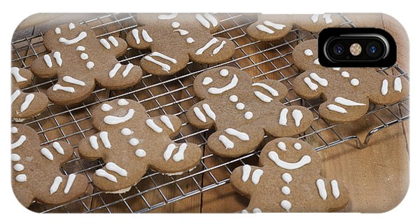 Icing iPhone Case - Gingerbread Man Cookies by Juli Scalzi