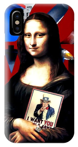 Gioconda Travelling - Usa IPhone Case