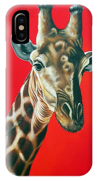 Giraffe Phone Case by Ilse Kleyn