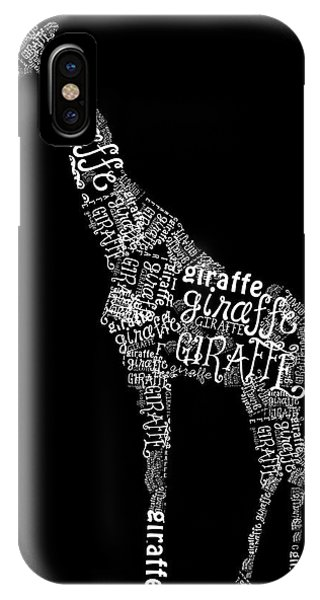Giraffe Is The Word IPhone Case