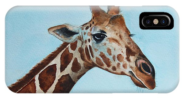Giraffe iPhone Case - Giraffe by James Zeger
