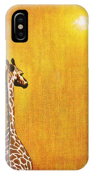 Giraffe iPhone Case - Giraffe Looking Back by Jerome Stumphauzer